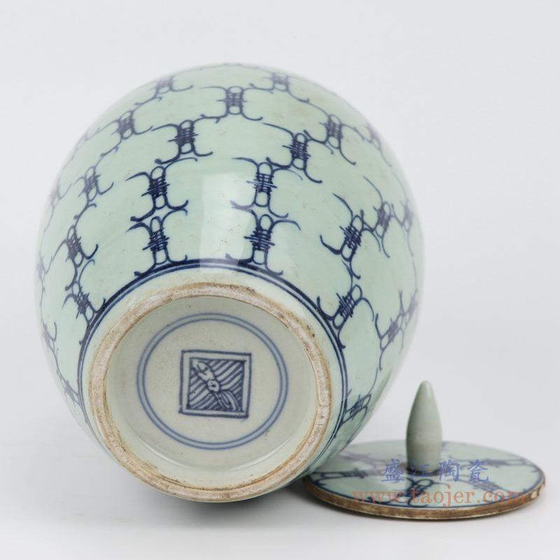 RZJG02 仿雍正青花寿字储物罐  底款图