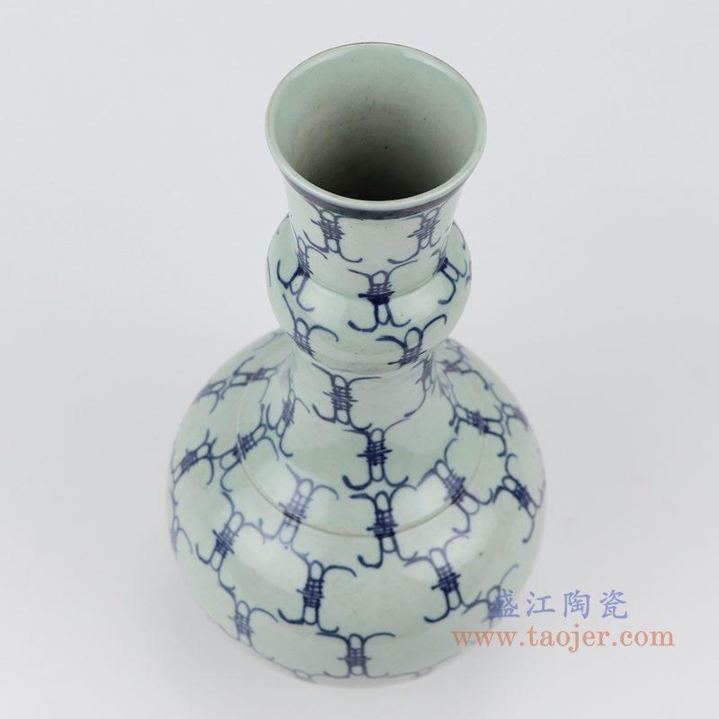 RZJG03 仿雍正青花百寿字花瓶  细节图