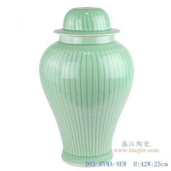 DS3-RYMA-NEW-影青雕刻条纹陶瓷将军罐灯具