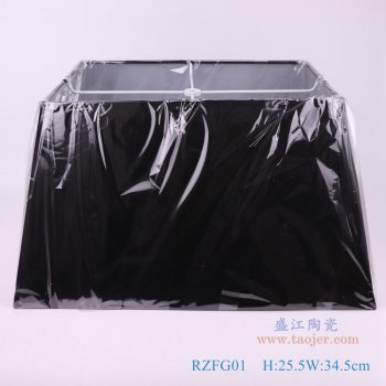 RZFG01-黑色长方形帆布灯罩