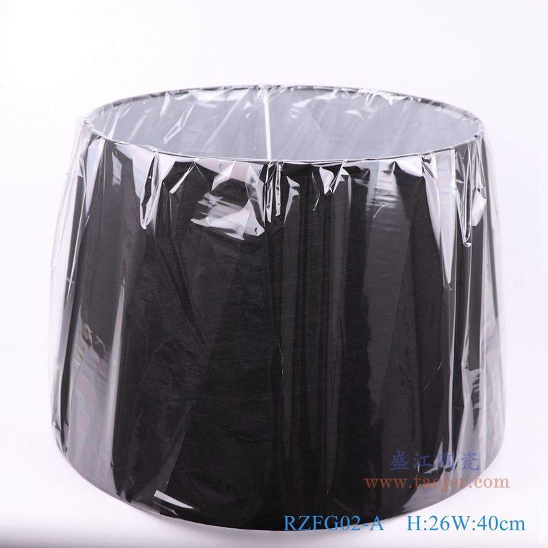 上图:黑色长方形帆布灯罩  正面图  购买请点击图片