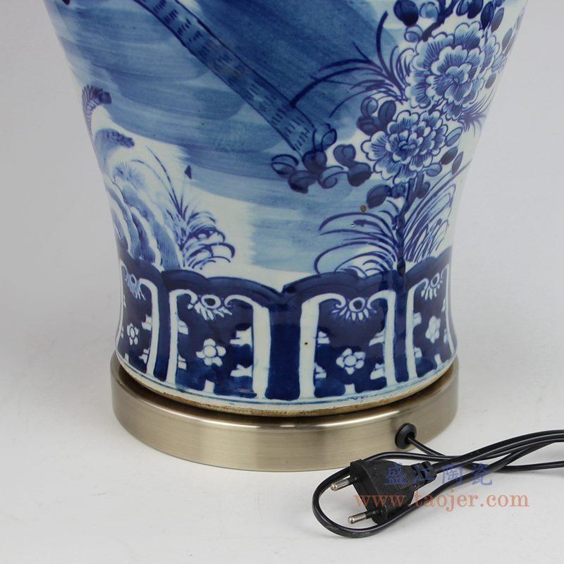 上图 手绘青花花鸟陶瓷将军罐灯具下面图片 购买请点击图