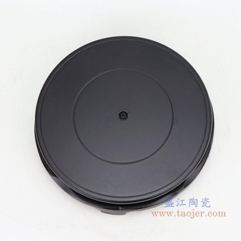 上图:哑光黑色7寸圆形灯具底座俯视图 购买请点击图片