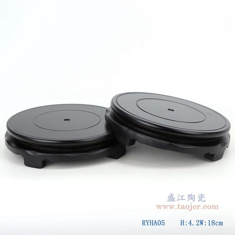 上图:哑光黑色7寸圆形灯具底座双个图 购买请点击图片