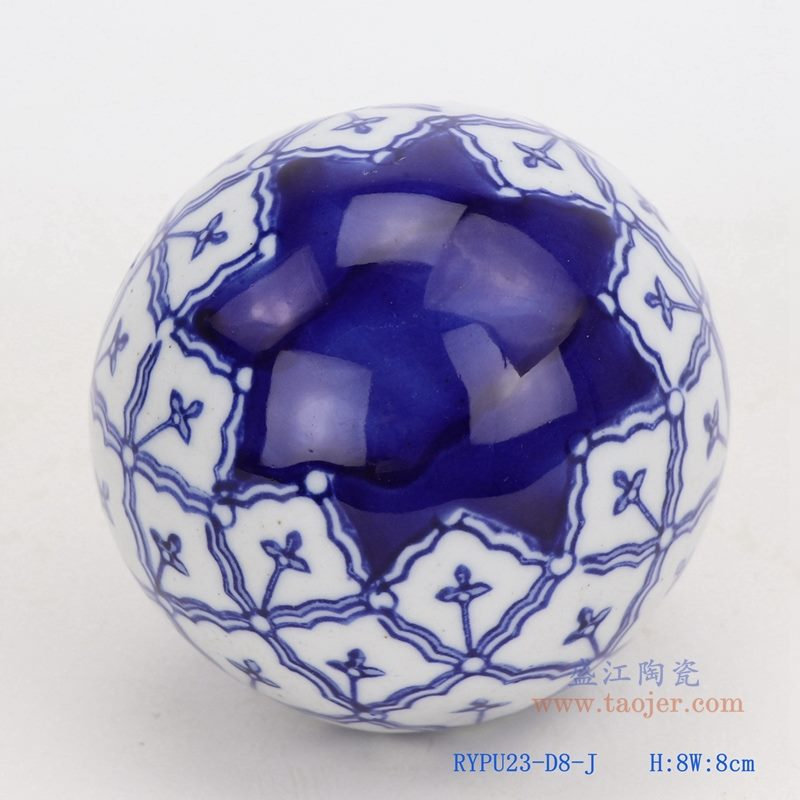 上图:青花星纹陶瓷球装饰球圆浮球 购买请点击图片