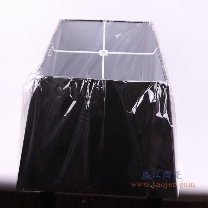 上图:黑色长方形帆布灯罩侧面图  购买请点击图片