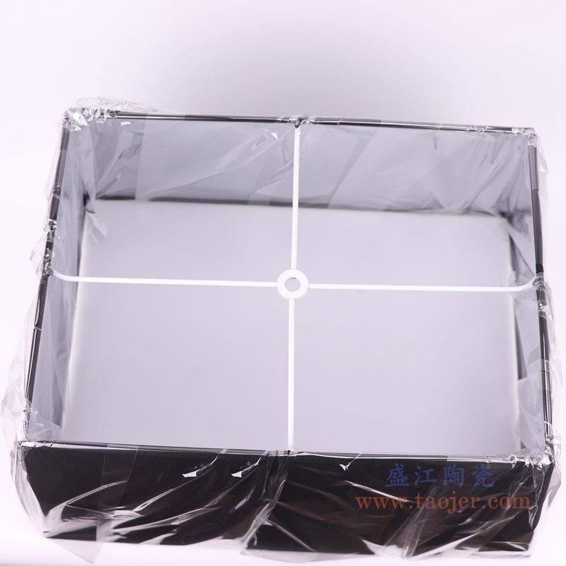 上图:黑色长方形帆布灯罩俯视图  购买请点击图片