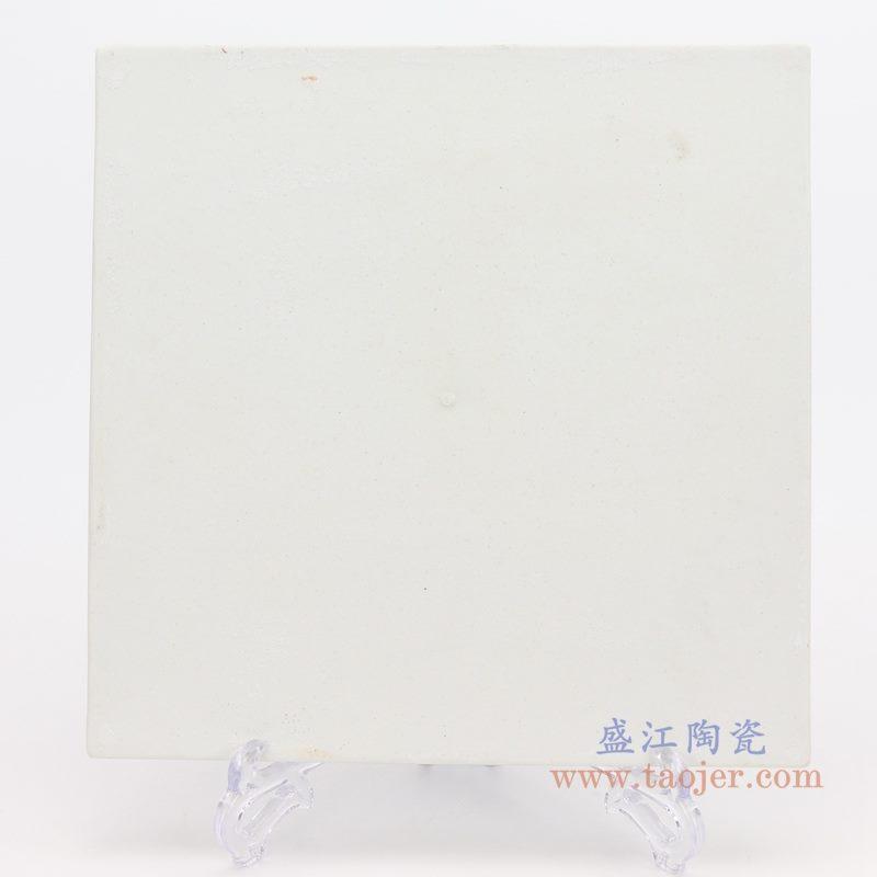 上图:仿古青花手绘大明宣德鱼藻纹雕刻四方茶盘背面图   购买请点击图片