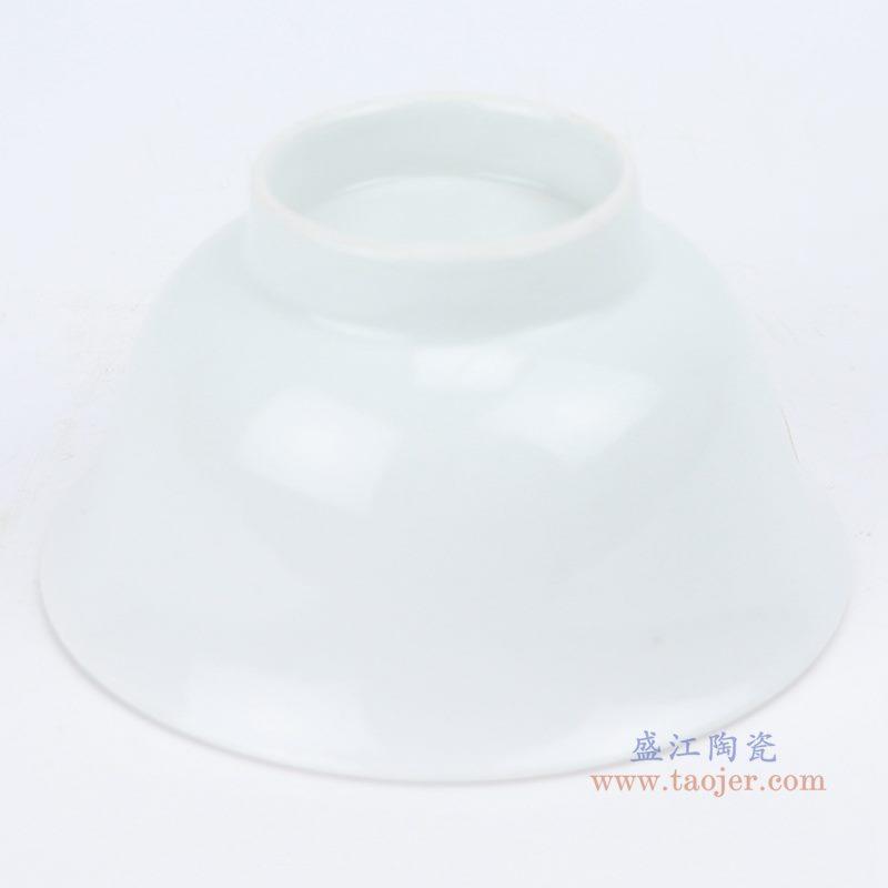 上图; 白瓷敞口碗4.3寸白碗底部图 购买请点击图片