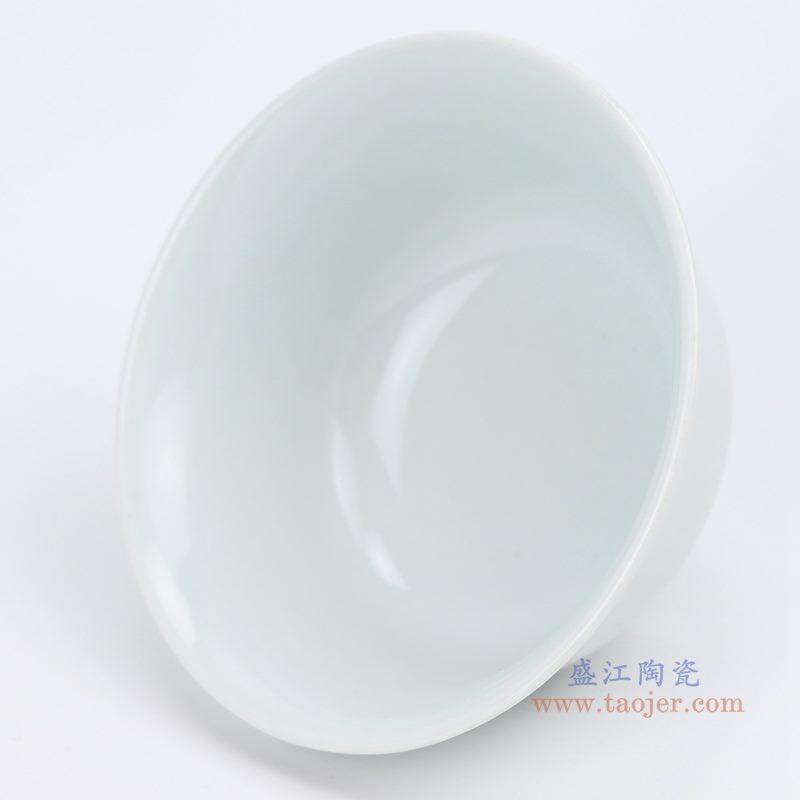 上图; 白瓷敞口碗4.3寸白碗口部图 购买请点击图片