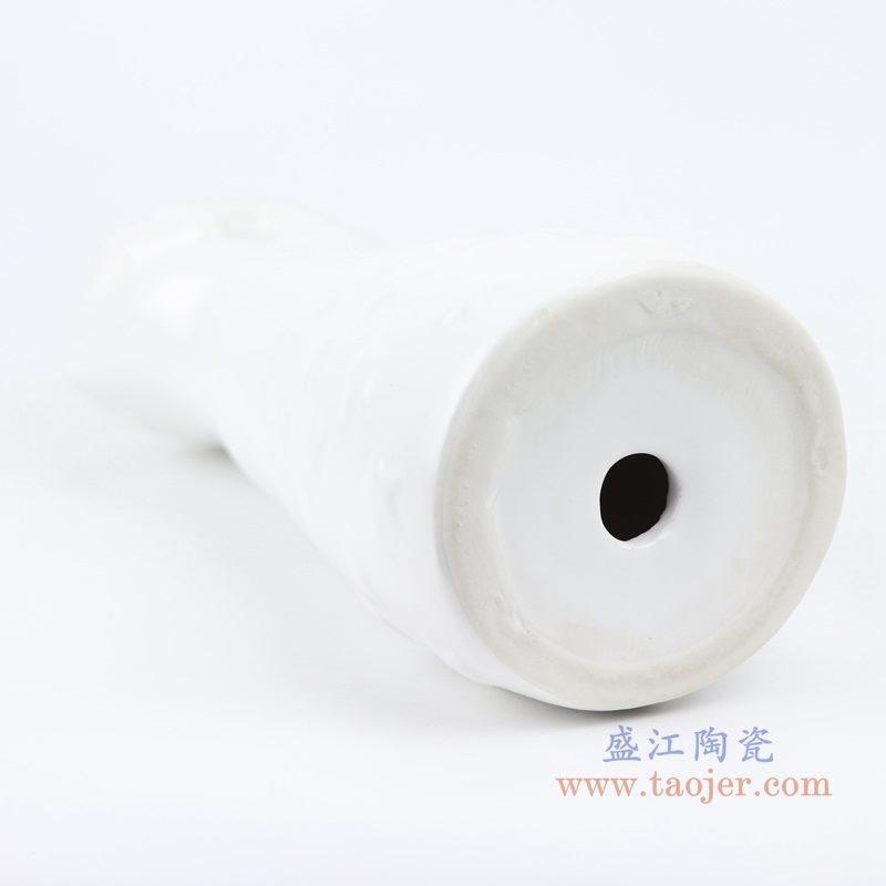 上图 :RZLK33北欧陶瓷哑光白 白色 胜利之手 底部 购买请点击图片