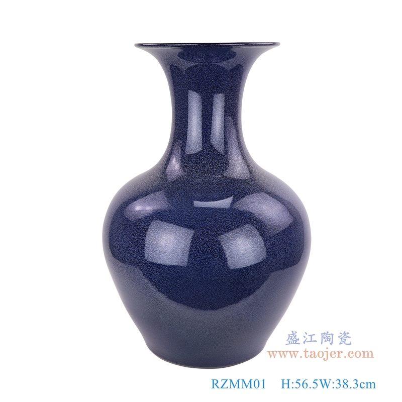 上图:颜色釉窑变星空蓝深蓝祭蓝赏瓶大花瓶 购买请点击图片