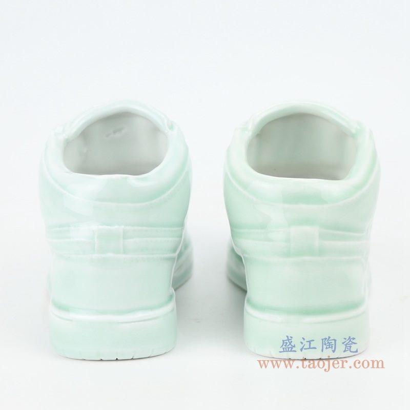 上图:RZQU01鸭蛋青陶瓷雕刻耐克鞋子NIKE  AJ   背面  购买请点击图片