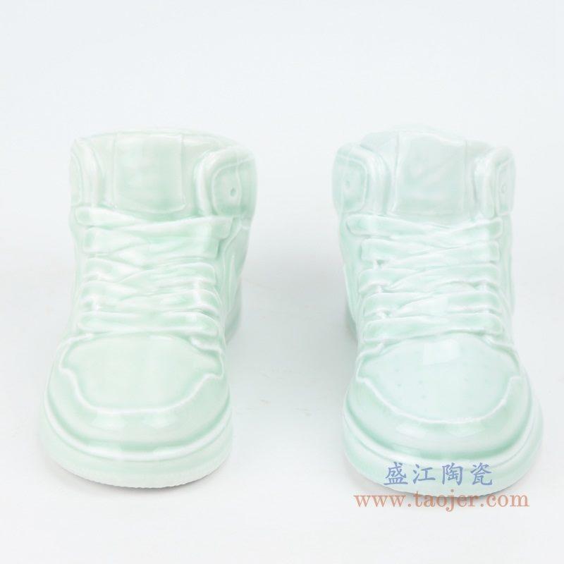 上图:RZQU01鸭蛋青陶瓷雕刻耐克鞋子NIKE  AJ   正面  购买请点击图片