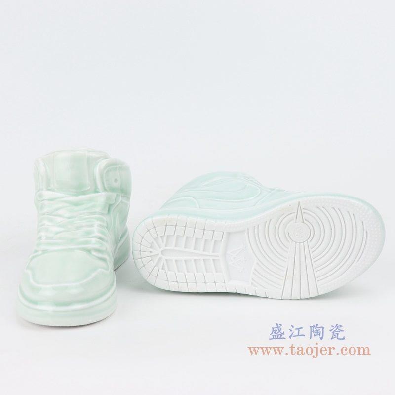 上图:RZQU01鸭蛋青陶瓷雕刻耐克鞋子NIKE  AJ   底部 购买请点击图片