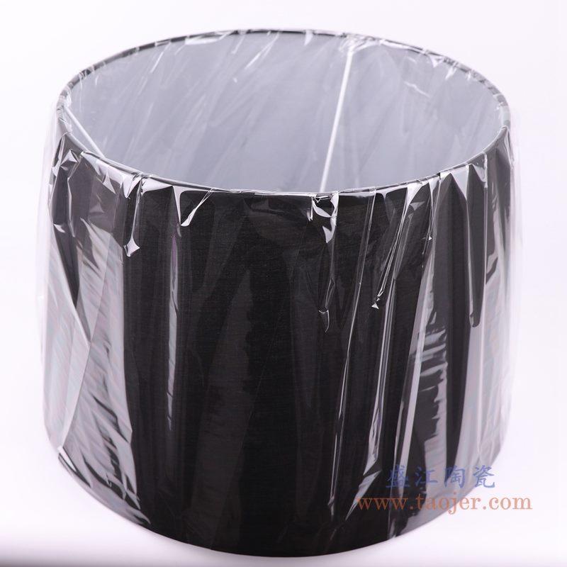 上图:黑色长方形帆布灯罩  俯视图  购买请点击图片