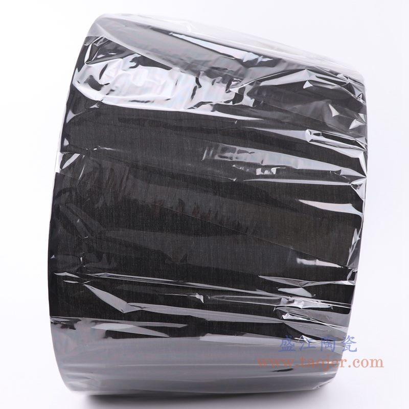 上图:黑色长方形帆布灯罩  侧面图  购买请点击图片