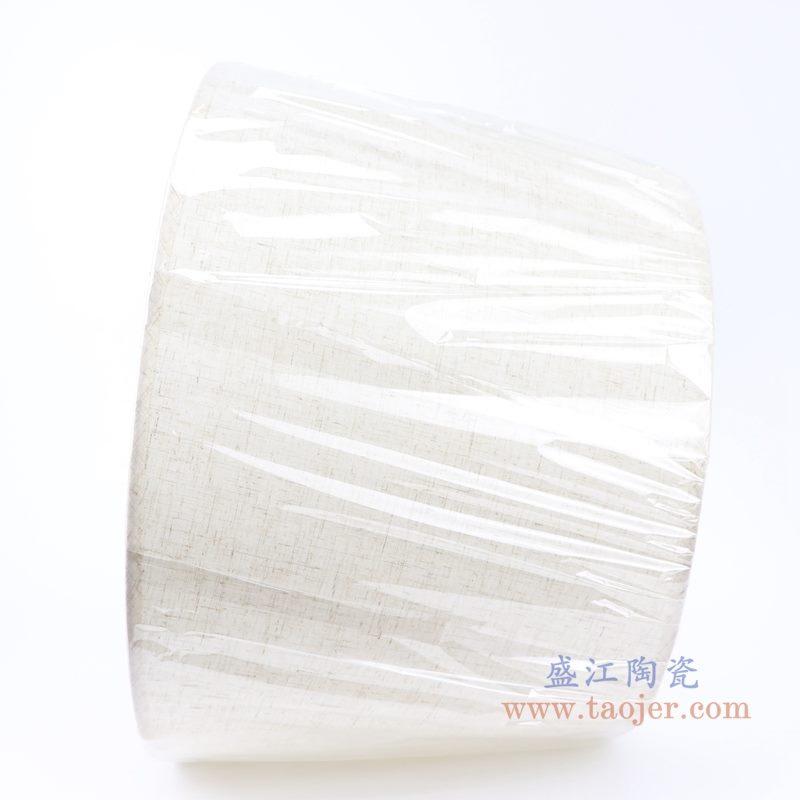 上图;白色圆形帆布灯罩侧面图 购买请点击图片