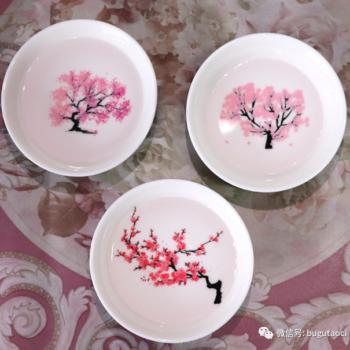 日本冷感樱花杯遇水变色小酒杯茶杯——这个夏季我们一起赏樱花吧