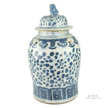 RZEY12 景德镇陶瓷将军罐手绘仿古青花瓷器