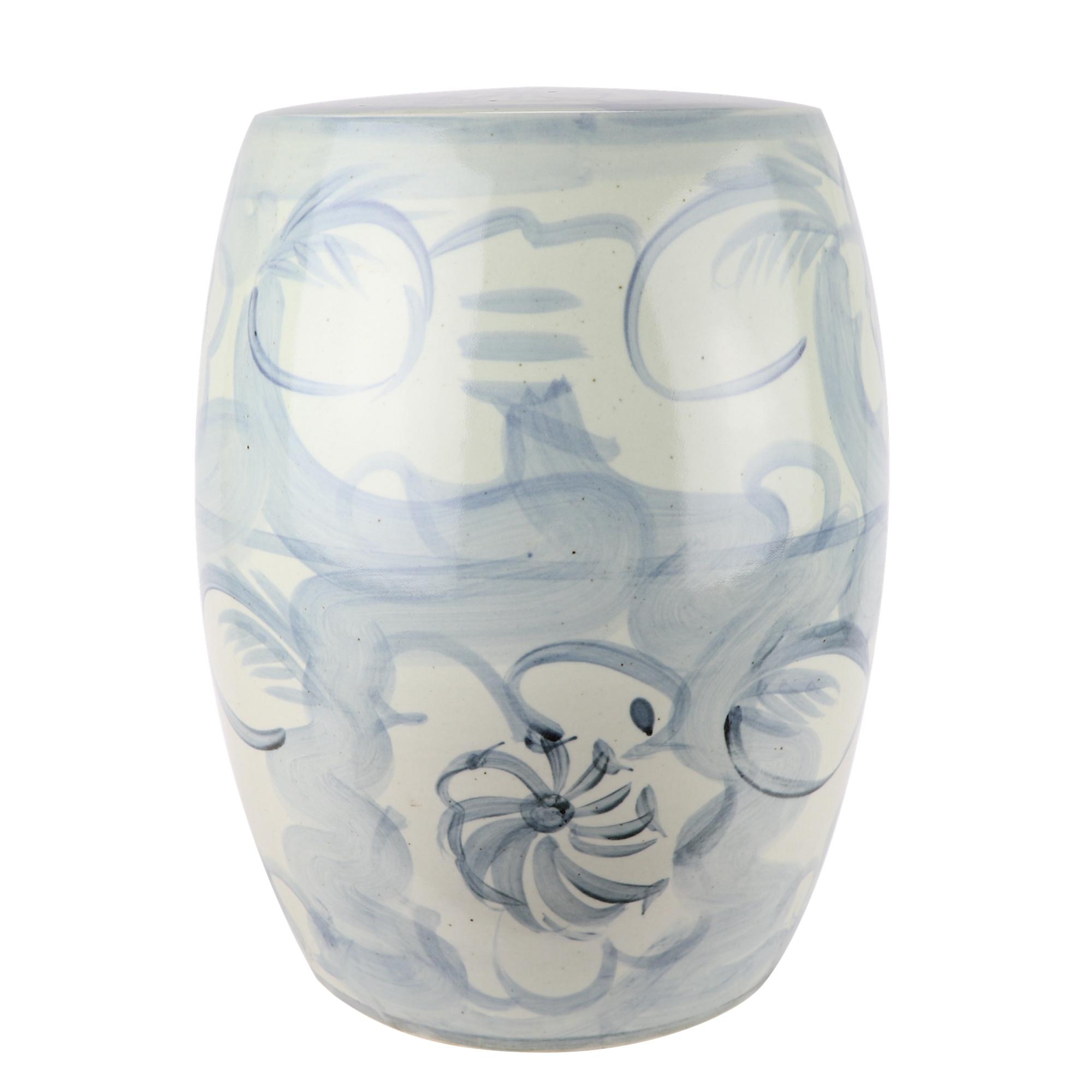 RZNA04-B 陶瓷摆件创意手颜色釉鼓凳