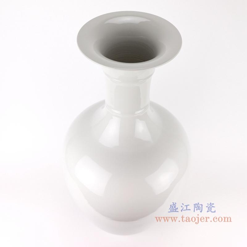 景德镇陶瓷器颜色釉冰裂纹白色现代时尚花瓶