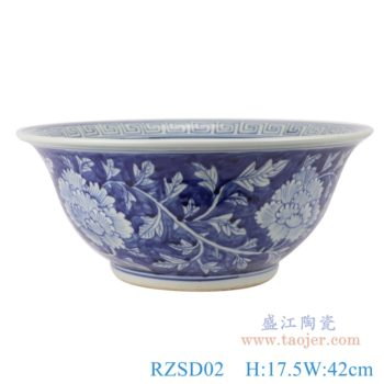RZSD02 景德镇手绘花纹青花陶瓷碗