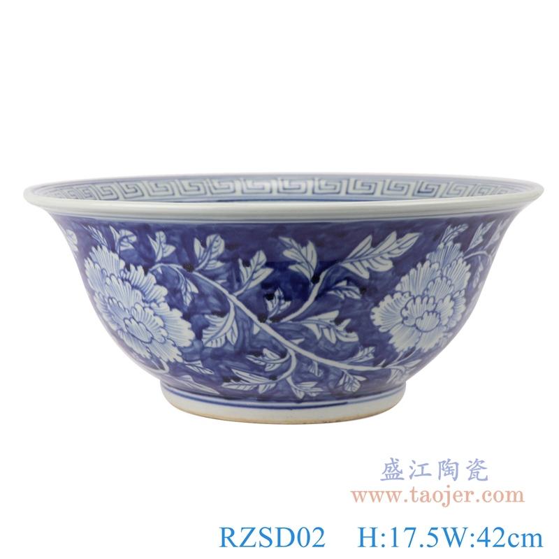 RZSD02 景德镇手绘青花花纹陶瓷碗