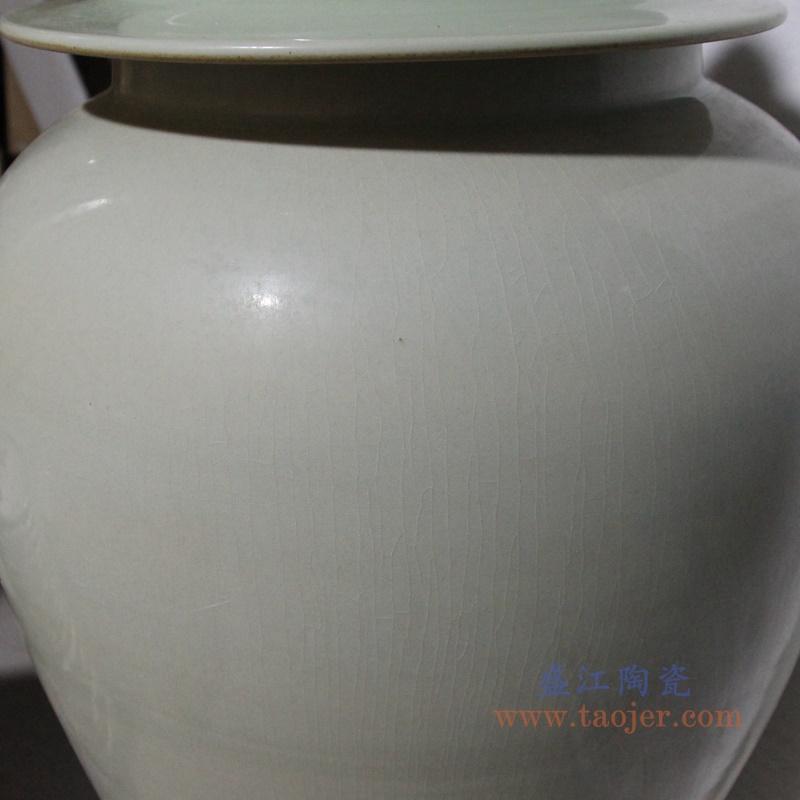陶瓷大罐子简约白陶瓷高温将军罐装饰储物罐