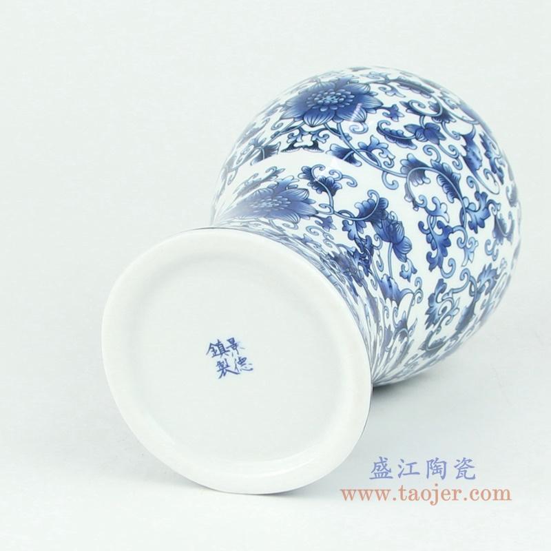景德镇陶瓷仿古手绘青花瓷花瓶摆件插花