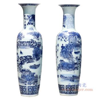 RZRi05-A手绘中国风青花清明上河图大花瓶