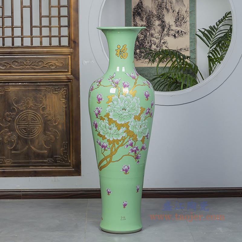 落地大花瓶景德镇陶瓷器居家摆件酒店客厅装饰品