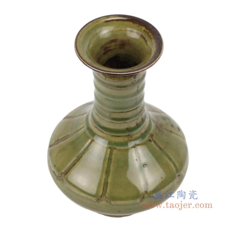 RZQJ10 茶叶末釉赏瓶梅瓶手工颜色釉坛罐子仿古做旧瓷器