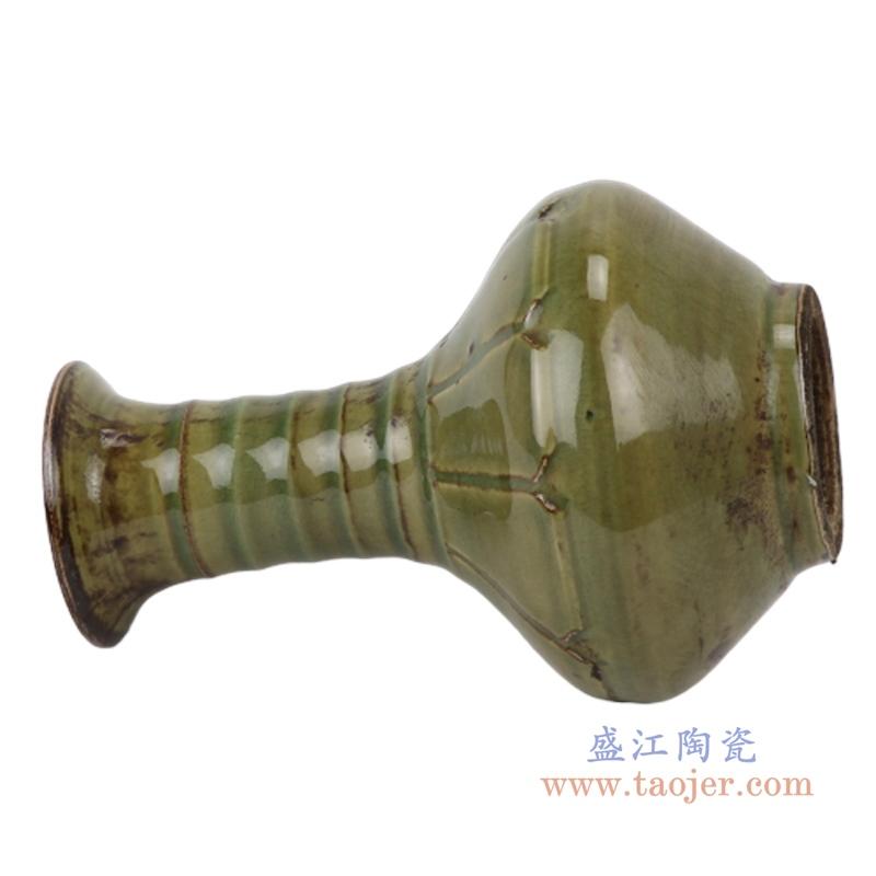 茶叶末釉赏瓶梅瓶手工颜色釉坛罐子仿古做旧瓷器