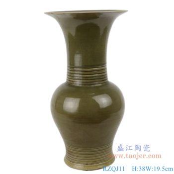 RZQJ11 古典末釉赏瓶梅瓶手工颜色釉坛罐子仿古做旧瓷器