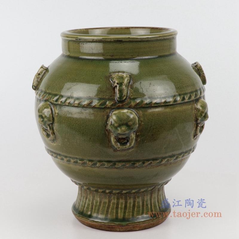 RZQJ12 末釉赏瓶梅瓶手工颜色釉坛罐仿古做旧瓷器