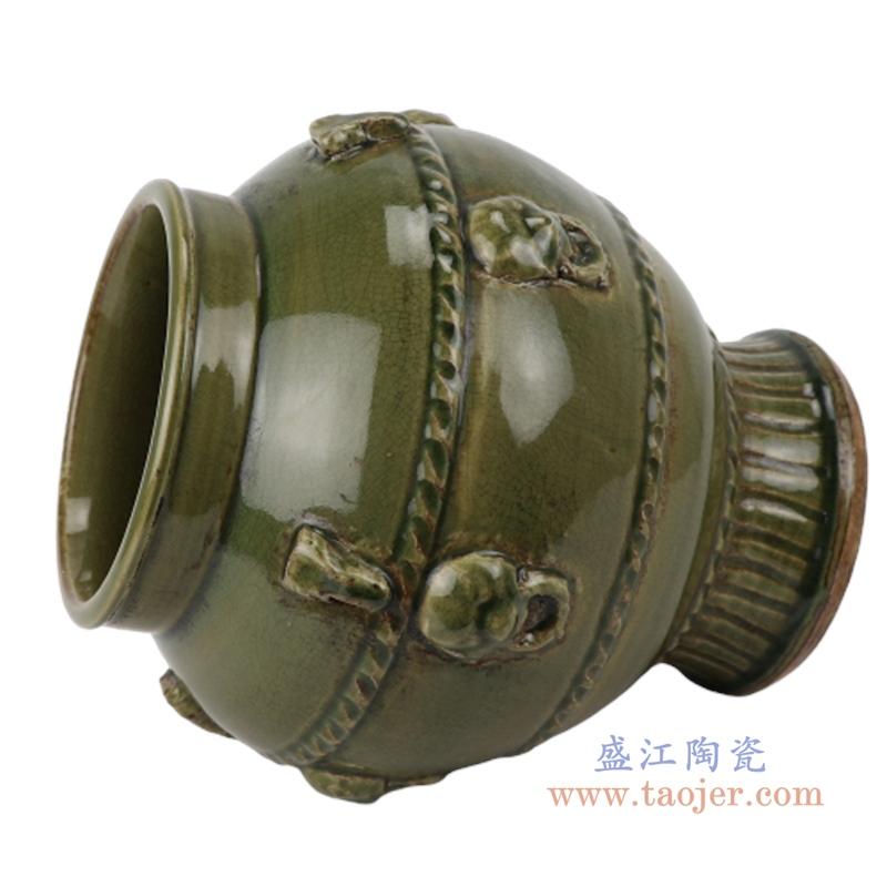 末釉赏瓶梅瓶手工颜色釉坛罐仿古做旧瓷器