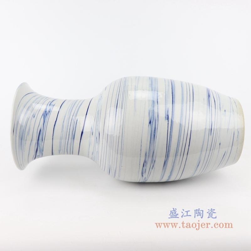 花瓶陶瓷 现代花瓶日式花器手工花插家居客厅装饰景德镇复古陶器
