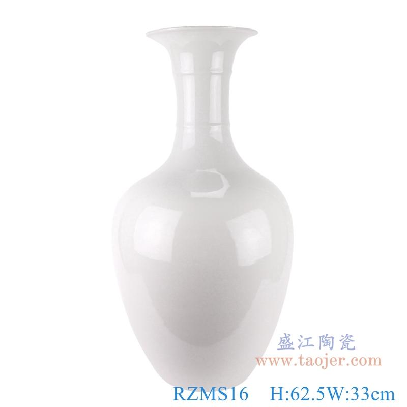 RZMS16 景德镇陶瓷器颜色釉冰裂纹白色现代时尚花瓶