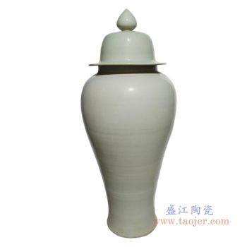 RZPI47  陶瓷大罐子简约白陶瓷高温将军罐装饰储物罐