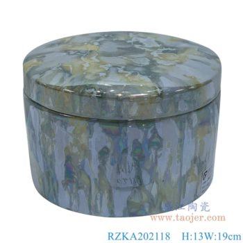 RZKA202118 直筒电镀贝壳纹理盖罐首饰盒