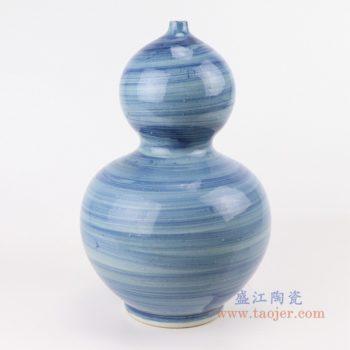 RZPI48  手工蓝纹颜色釉现代陶瓷花瓶