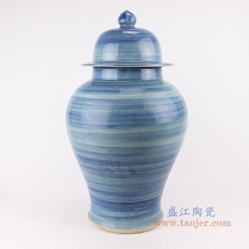 RZPI51 手工蓝纹颜色釉现代陶瓷将军罐
