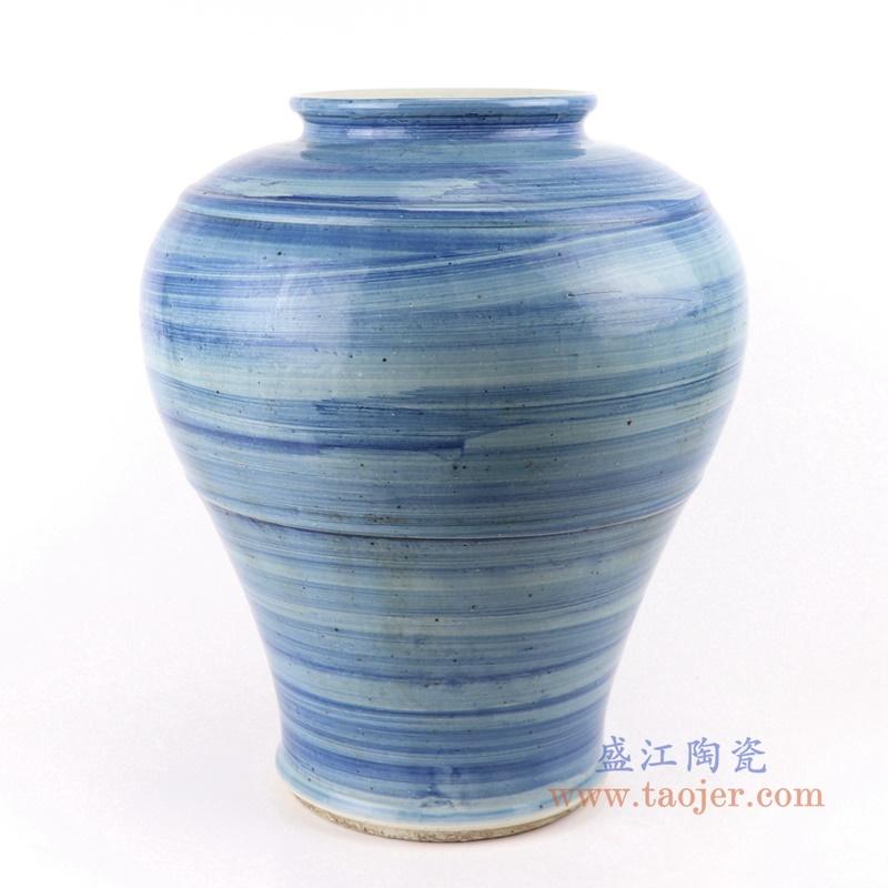 RZPI53  手工蓝纹颜色釉现代陶瓷花瓶罐
