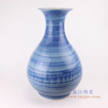 RZPI55  手工蓝纹颜色釉现代陶瓷花瓶