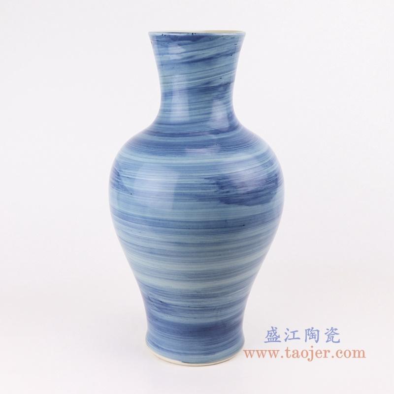 RZPI58  手工蓝纹颜色釉现代简约陶瓷花瓶
