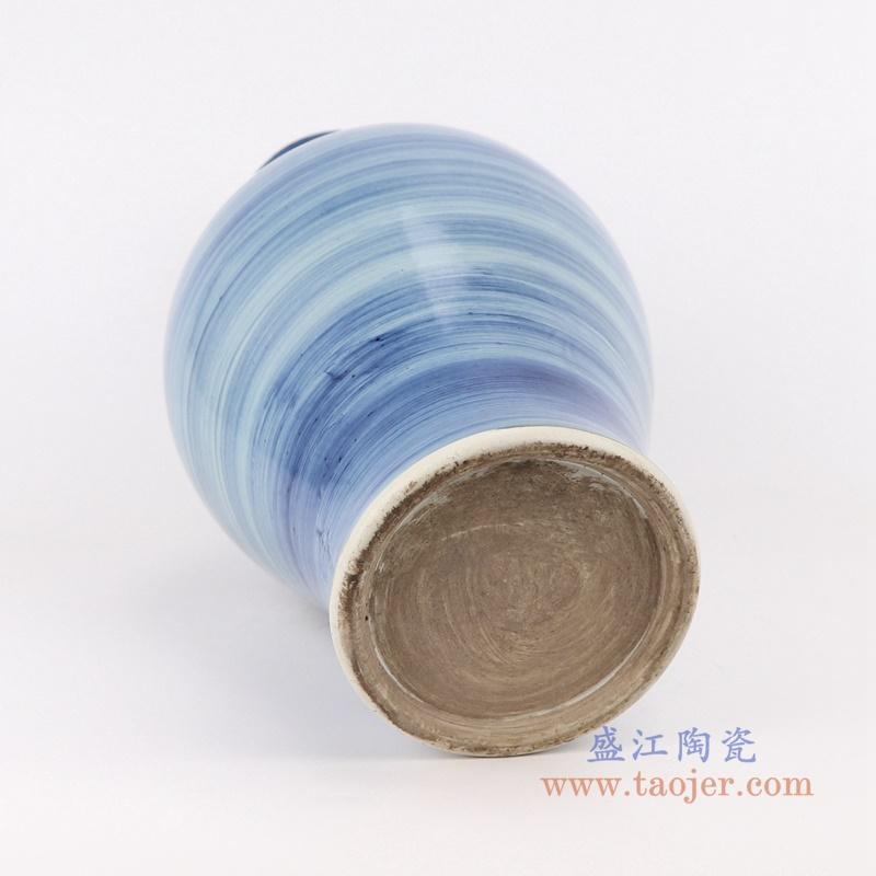 手工蓝纹颜色釉现代简约陶瓷花瓶