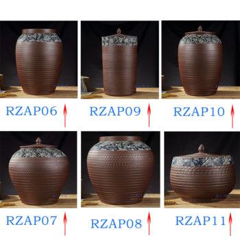 RZAP  仿古跳刀纹冬瓜缸 陶瓷缸米缸水缸酒缸油缸酵素缸普洱茶叶罐储物罐