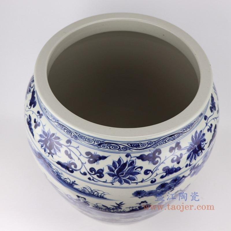 RZFH27-B青花八仙人物大缸水缸鱼缸