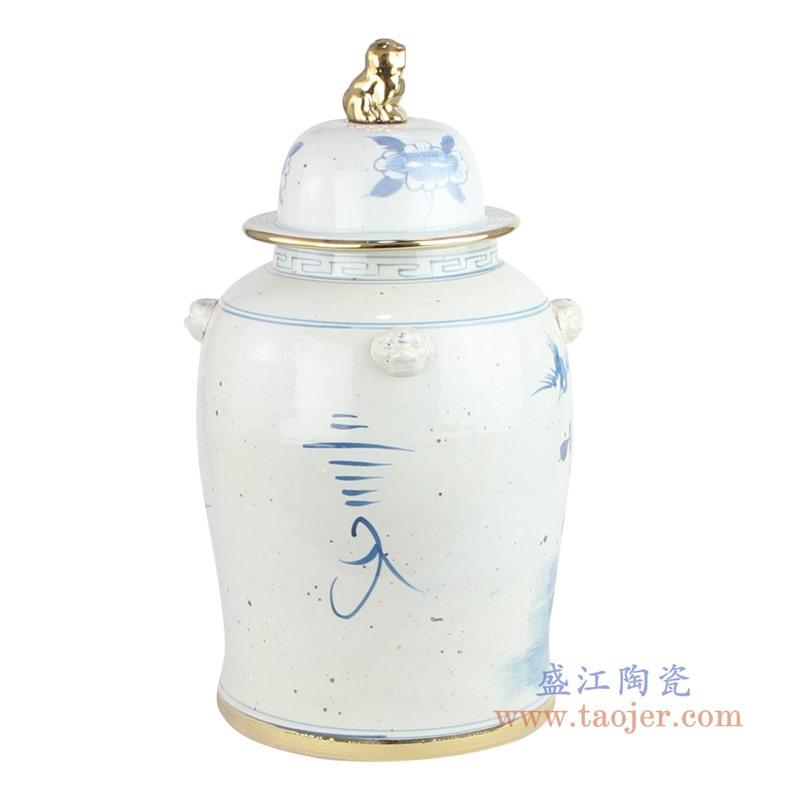 RYKB156-A 荷花将军罐仿古瓷器摆件